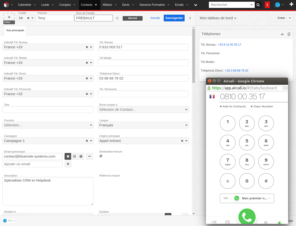 Preview - CRM and Aircall connector